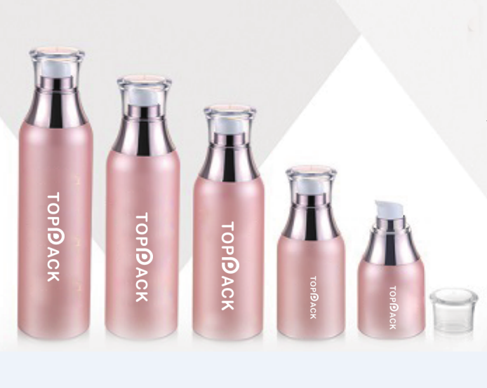 New Boston Round Airless Bottle with collar-P9J39
